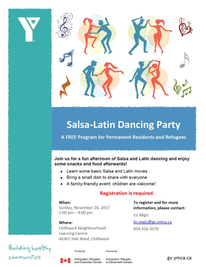 YMCA Salsa-Latin Dancing Party