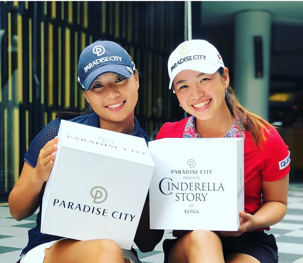 """Genevieve Ling and Jessica Peng Chieh are the 2 - two winners of the KLPGA Cinderella Story event.  Based on a """"survivor"""" style elimination event. winners play on the Korean LPGA golf tour."""