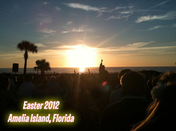 Easter event on the beach in Florida