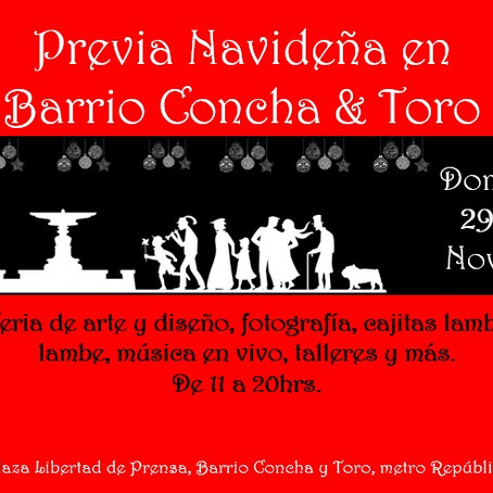 Previa navideña en Barrio Concha y Toro