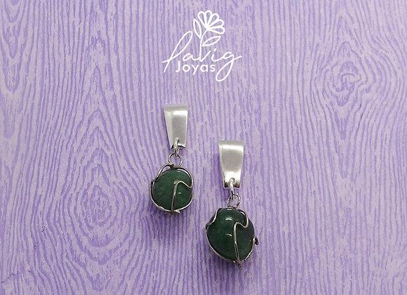 Aro rustico cuarzo verde