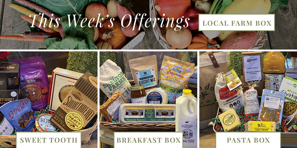 Local Farm Box AND/OR Provisions Box - Saturday or Sunday