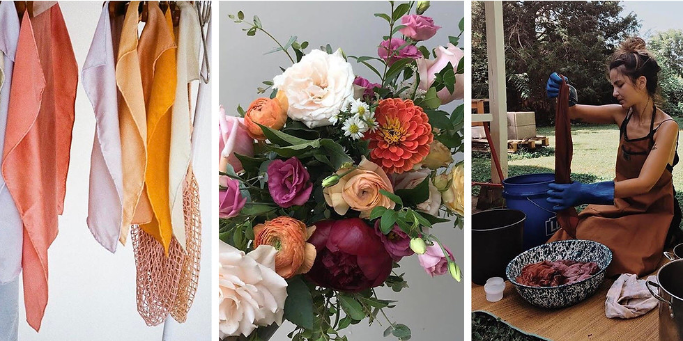 Hand-Tied Bouquet + Naturally Dyed Fabrics Workshop