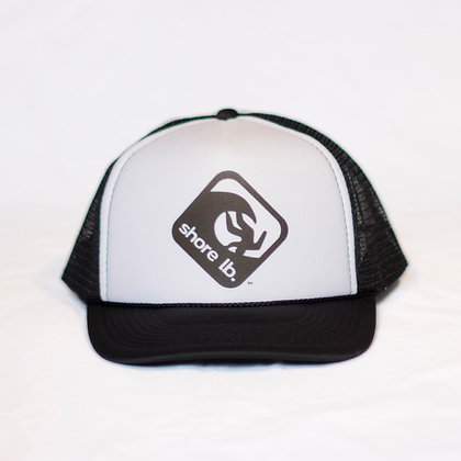 Trucker Hat ~ Black on White