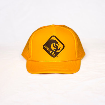 Trucker Hat ~ Black on Yellow