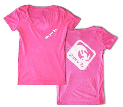Women's Super Soft Pink V-Neck T