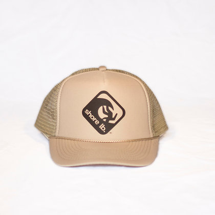 Trucker Hat ~ Black on Tan