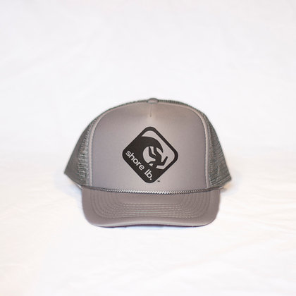 Trucker Hat ~ Black on Silver