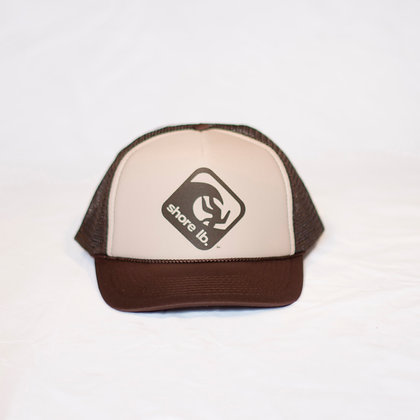 Trucker Hat ~ Black, Tan and Brown