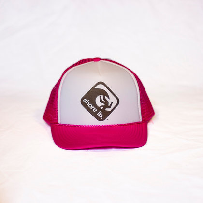 Trucker Hat ~ Black, White and Hot Pink