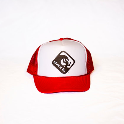 Trucker Hat ~ Black, White and Red