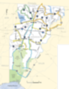 Map of Heritage Roads routes in Jefferson County Florida