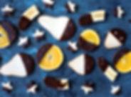 チョコレートで覆われた果実