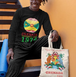 yoga guy with tote bag - grenada indepen