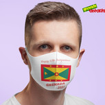 White Mask Happy Independence Grenada.jp
