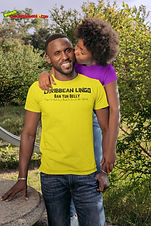 """Ever Wanted To Know The Meaning Behind Some Of Our Caribbean Sayings, Dialect & Patios - Get In The Know & Check Out Our Caribbean Lingo Series By Wearing The Meaning. """"Ban Yuh Belly """" means """"Prepare For Hard Times or A Time For Belt Tightening."""""""