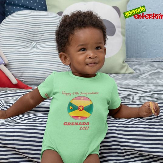 Baby Onsie Happy 47th Independence Grena