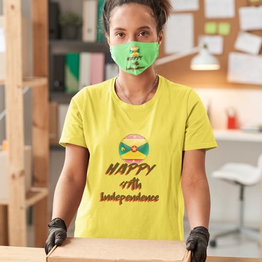 Mask & T Shirt - tank top happy 47 indep