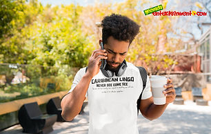 """Ever Wanted To Know The Meaning Behind Some Of Our Caribbean Sayings, Dialect & Patios - Get In The Know & Check Out Our Caribbean Lingo Series By Wearing The Meaning. """"Never See Come See"""" means """"Someone Who Has Been Recently Exposed To Something New & Who Overdoes It To Ridiculous Proportions."""" Thank You For Checking Out Our Official Merchandise for Grenada Entertainment.com"""