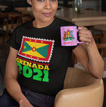 Woman Sipping Coffee in Grenada Happy 47