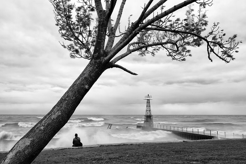 Alone In The Storm BW