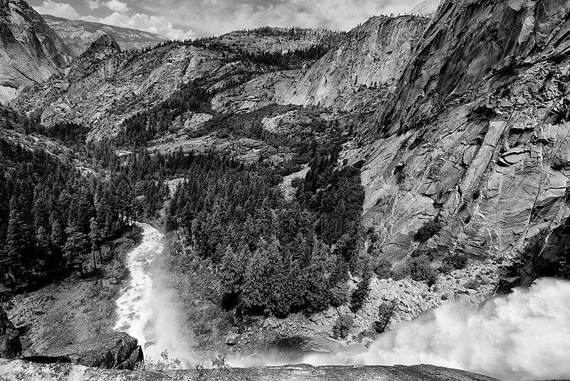 Nevada Falls BW