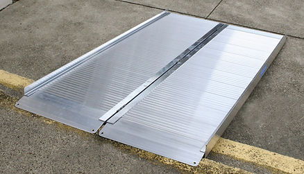Folding Curb Metal Ramp