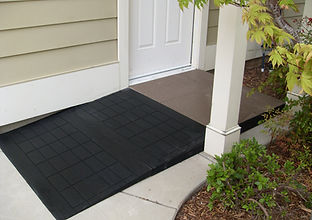 Black Rubber Wheelchair Ramp
