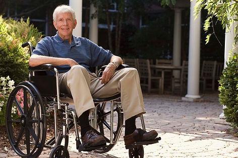 Old Man in Wheechair