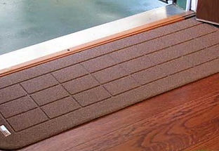 Brown Rubber Wheelchair Ramp