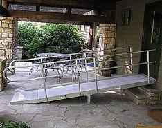 Brown Rubber Wheelchair Ramp