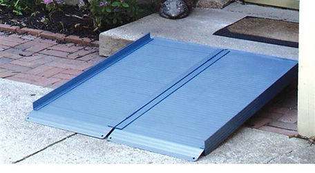 Blue Folding Curb Wheelchair Ramp