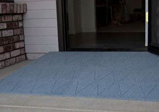 Blue Rubber Wheelchair Ramp