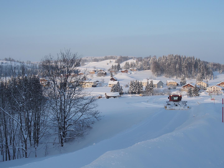 Damage piste de ski de fond