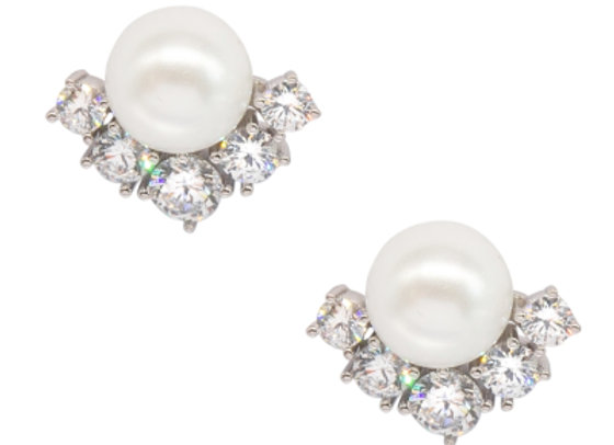 Alessandra Pearl Sparkle Earring