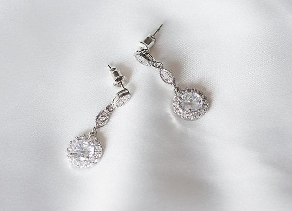 Dahlia Sparkle Drop Earrings