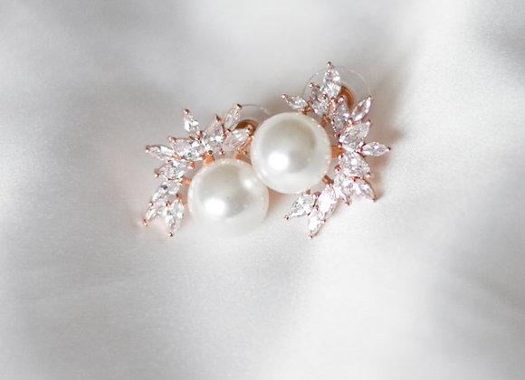 Chrissie Stud Earrings Rose Gold