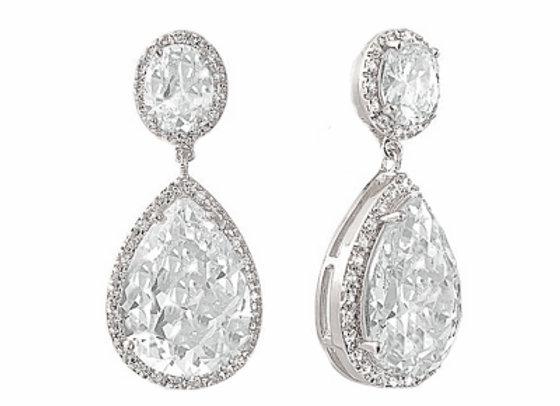 Hollywood Crystal Drop Earrings