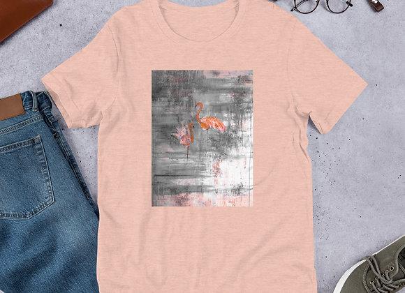 Short-Sleeve Flamingo Print Unisex T-Shirt