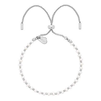 Silver & Pearl Toggle Bracelet EB