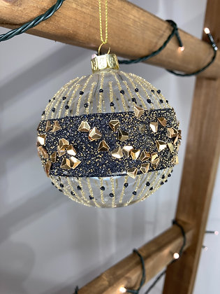 Black & Gold Band bauble