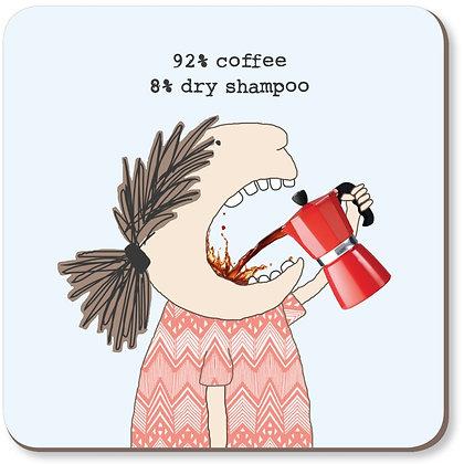 Coffee & Dry Shampoo Coaster Rosie Made A Thing