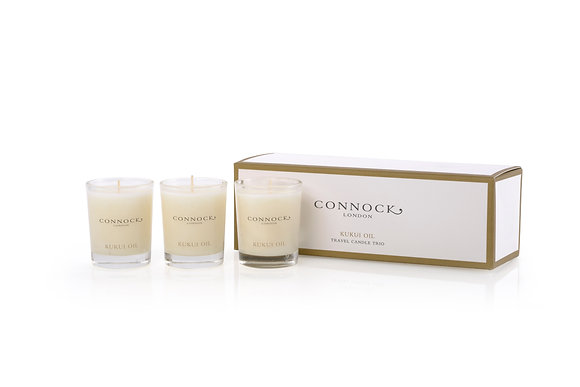 Connock London Kukui Oil Candle Trio