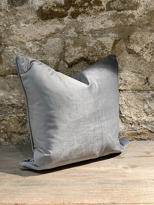 Grey Plush Scatter Cushion
