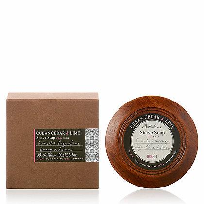 Mens Cuban Cedar & Lime Shave Soap