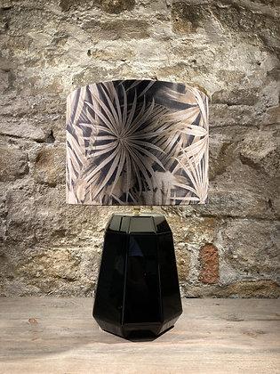 Black Base Lamp With Sepia Shade