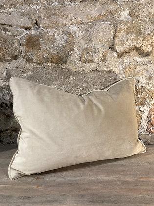 Champagne Velvet Rectangle Cushion