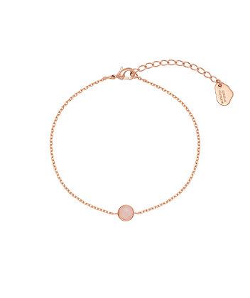 Rose Gold Quartz Gemstone Bracelet EB