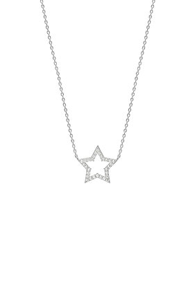 Silver CZ Star Necklace EB