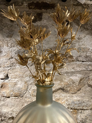 Faux Gold Thistle Spray